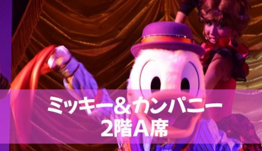 【TDL】ミッキー&カンパニー2階A席でも満足~~♪