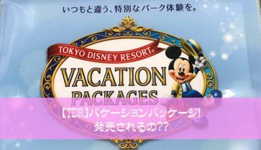 【TDR】バケーションパッケージ!発売されるの??ディズニーホテル絶賛解放中!?